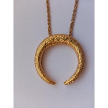 Łańcuszek półksiężyc z mosiądzu ASOS DESIGN