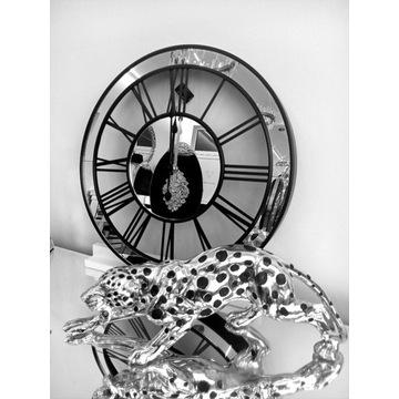 Zegar lustrzany ścienny glamour lustro loftowy 50