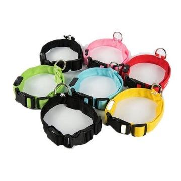 Obroże odblaskowe LED dla psa kota