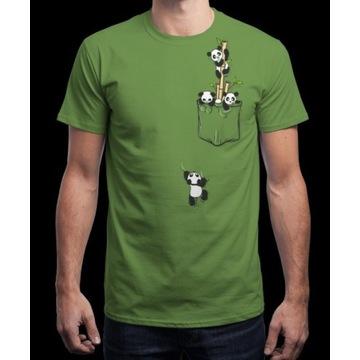 Nowy T-shirt firmy qwertee - Pocket Pandas