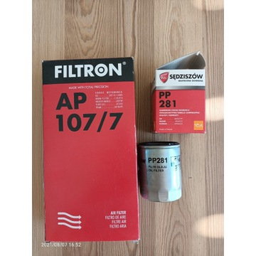 Filtr oleju i powietrza HYUNDAI i20 AP107/7  PP281