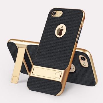 iPhone 7 8 ETUI złote z podpórką