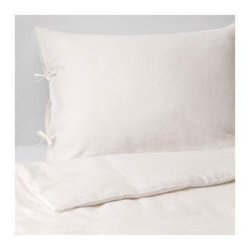 Pościel LEN 100% Puderviva Ikea 200/200cm, biała