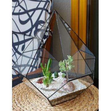Doniczka szklana florarium Kropla