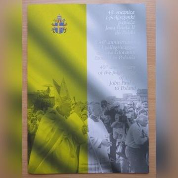 Folder 40.rocznica I pielgrzymki Fi Nr kat.:217**