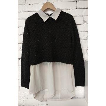 Sweter koszula 2w1 38 M