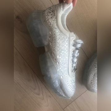 Sneakersy białe jimmy choo 39 diamenciki cyrkonie