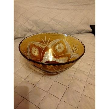 Kryształ, owocarka kryształowa z lat 80