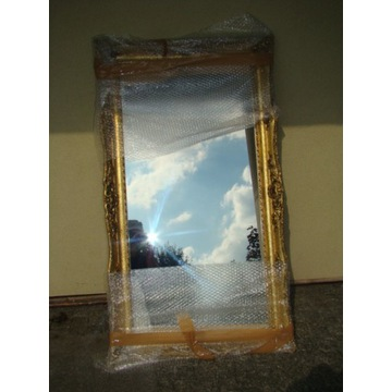 Bardzo piękne kryształowe lustro,w drewnianej rami