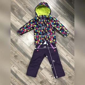 Kombinezon zimowy kurtka spodnie 5.10.15 r.110-120