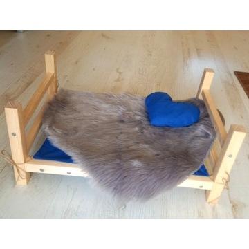 Zestaw dla kota psa Drewniane łóżko Legowisko