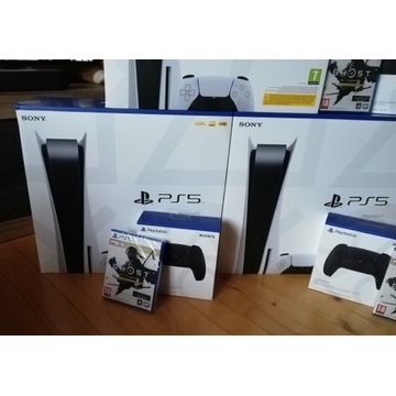 PS5 PlayStation 5 2 Dual Sense Gra Ghost