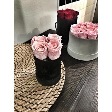 Wieczne róże flower box 10 szt różowe