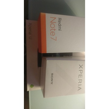 Xiaomi Redmi Note7, Sony Xperia XA1, Sony Xperia U