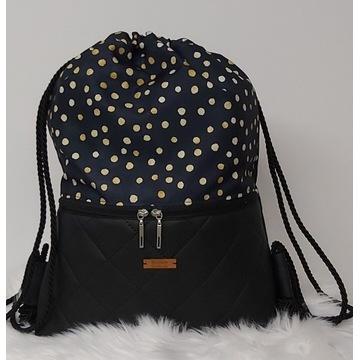 Worko plecak handmade MaliNowe_Handmade Rękodzieło