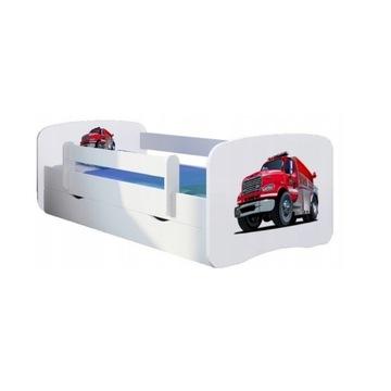 Łóżko dziecięce dla chłopca z materacem i szufladą