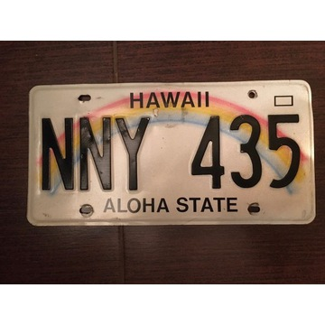 Tablica samochodowa USA HAWAII - ALOHA STATE
