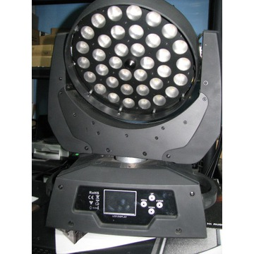 głowa led zoom ,ringi 36x 18w RGBWAUV PG LED