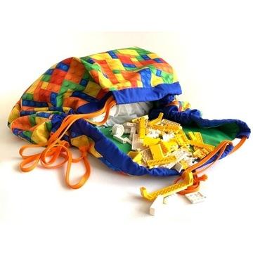 Mata,torba na klocki , zabawki, rękodzieło