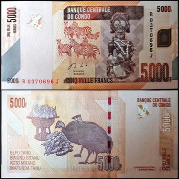 CONGO DEMOCRATIC REPUBLIC 5000 FRANCS 2013 UNC