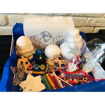 Świąteczny box kreatywny mikołaj święta dzieci