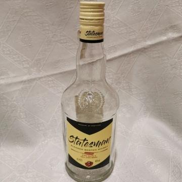 Butelka po szkockiej whisky Statesman z etykietką