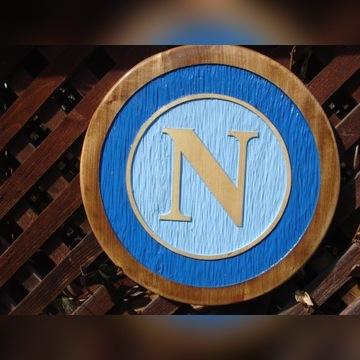 SSC Napoli Ręcznie rzeźbiony herb z drewna UNIKAT