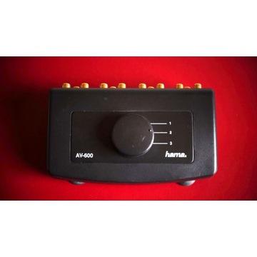 Przełącznik audio video Hama AV-600 selektor AV