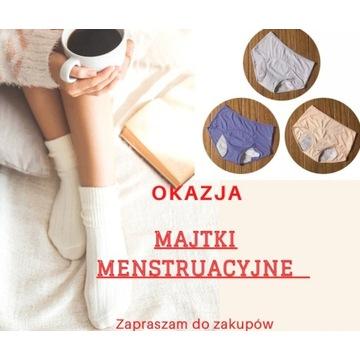 majtki menstruacyjne - zestaw 3 szt ( kolory)