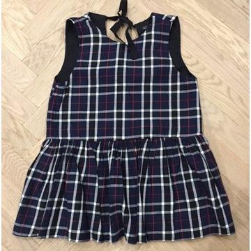 Granatowa bluzka Zara Trafaluc rozmiar S