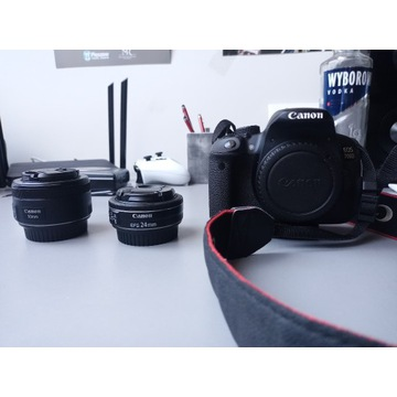 Canon 700D + Canon EF 50mm f/1.8 + Canon EF 24mm