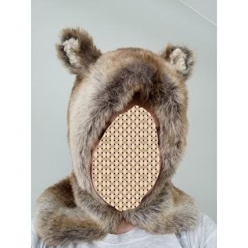 Misowata czapka z uszami