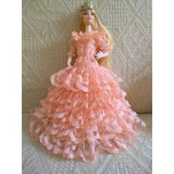 Suknia księżniczki-lalka 30cm