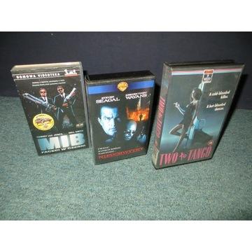 Pakiet trzech filmów VHS: MiB, Nieuchwytny, TwotoT