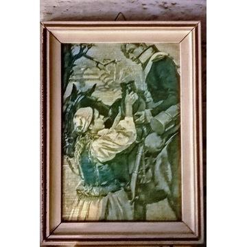Obraz miniatura Szaser i dziewczyna Kossak