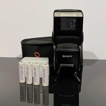 Lampa błyskowa Sony HVL-F42AM + akcesoria