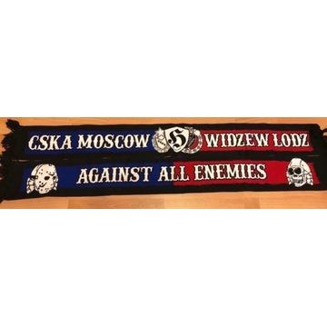 Unikatowy szalik CSKA-Widzew hooligans