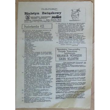 Biuletyn NSZZ Solidarność Stalowa Wola 24.09.1981