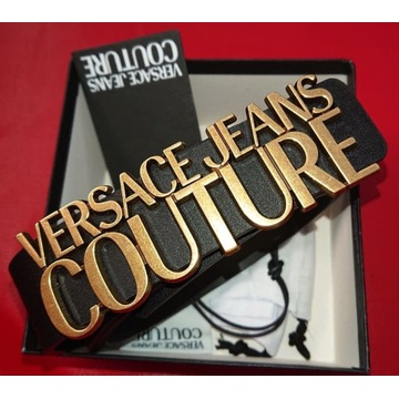 Pasek Versace Jeans Couture LETTERING BUCKLE r.100