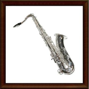 Saksofon tenorowy K.Glaser srebrny M323
