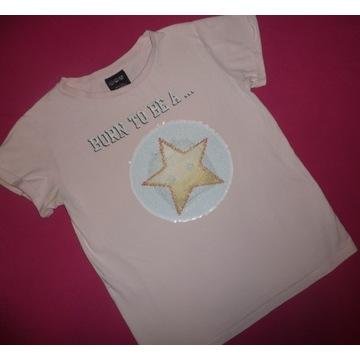 H&M Next bluzka odwracane cekiny rozmiar 146 152
