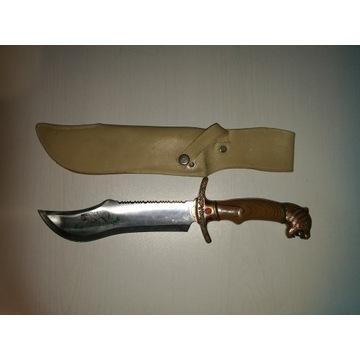 """Nóż """"orientalny"""", 38cm,tygrys,st.nierdz.,b.ostry."""
