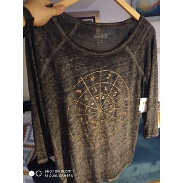 Koszulka Lucky Brand damska M Złote usa Nowa levis