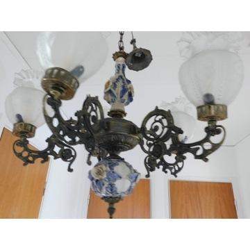 żyrandol lampa ceramika z metalem nr 1485 Fiaf