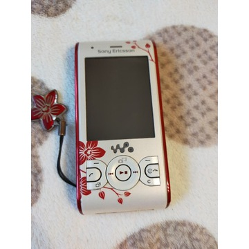 Sony Ericsson W595 biały w kwiaty