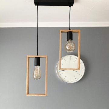 Lampa drewniana RAMKA MAŁA II- wisząca
