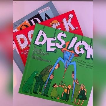 3 książki M.O.D.A, D.E.S.I.G.N, D.O.M.E.K