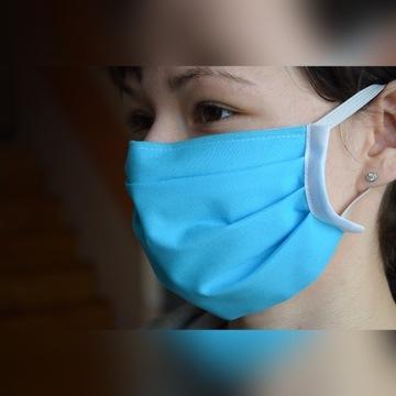 Maska maseczka bawełniana 2 warstwy, usztywnieniem