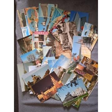 Zestaw: 47 pocztówek zagranicznych