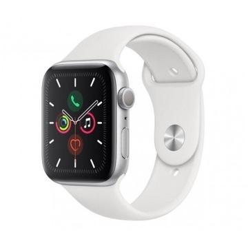 Apple Watch 5 44 Silver Aluminium White Sport GPS